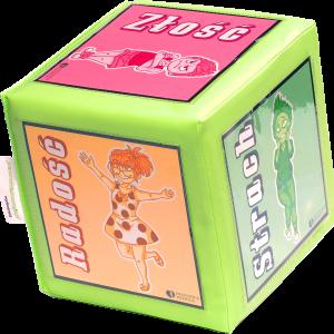 Zabawka edukacyjna, kostka edukacyjna z obrazkami edukacyjnymi emocji i historyjek