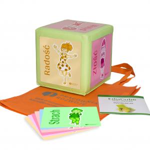 Zabawka edukacyjna, kostka edukacyjna EduCube z obrazkami edukacyjnymi do nauki emocji