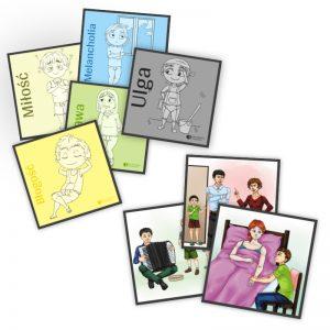 obrazki edukacyjne dla dzieci emocje i historyjki